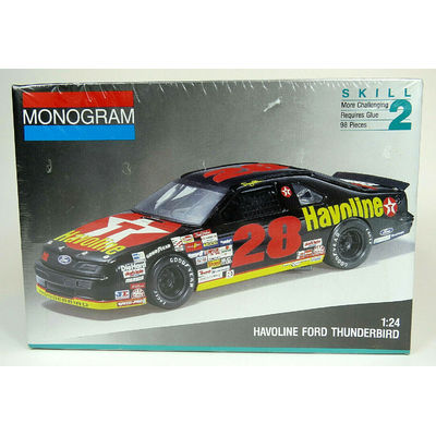 Monogram Nascar #28 Havoline Ford Thunderbird 1:24 Model Car Kit 85-2430