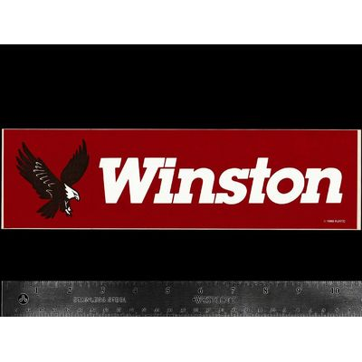 WINSTON – Original Vintage 1980's Racing Decal/Sticker NASCAR – 10.50 inch size