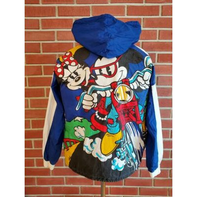 Disney Formula One Racer Unisex Small Hooded Light Jacket Vintage Mickey & Co.