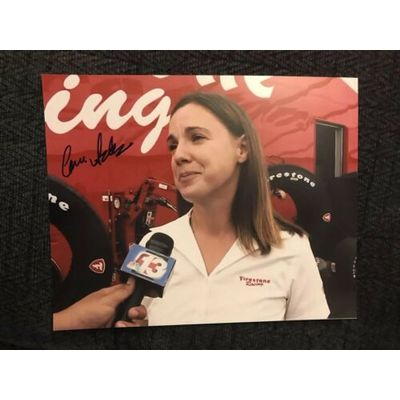 Cara Adams Signed Indianapolis 500 8 X 10 Photo Autographed Indy Car Reporter