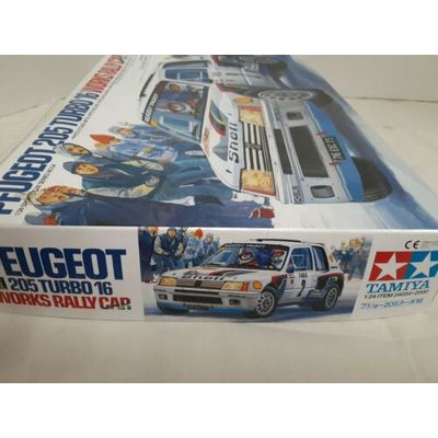 Tamiya 1/24 Peugeot 205 Turbo 16 Works Rally Model #24054 Open Box/ Sealed Parts