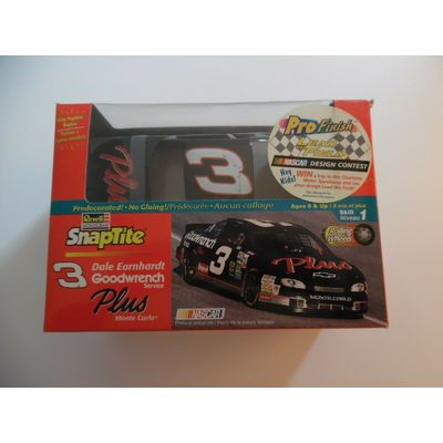 REVELL PRO FINISH DALE EARNHARDT #3  NASCAR MODEL KIT  Level 1