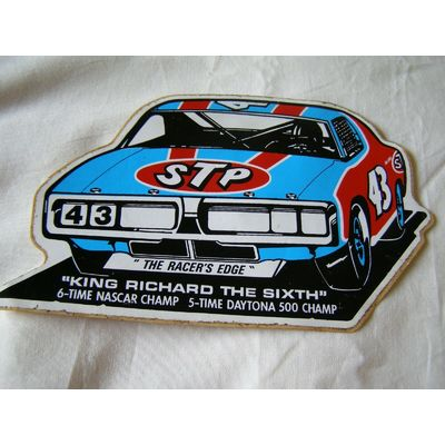 VINTAGE 1971 RICHARD PETTY DODGE CHARGER NASCAR DAYTONA STICKER