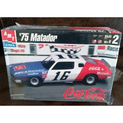 Amt Ertl Bobby Allisons 1975 Nascar Amc Matador Model Kit 1:25 Scale Sealed Coke