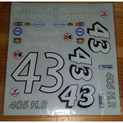 Vintage decals,Johan 1964 Richard Petty Plymouth#43.Excellent shape