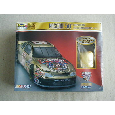 FACTORY SEALED Revell NASCAR 50th Anniversary Gold Chevy #85-4130 Ltd Edition