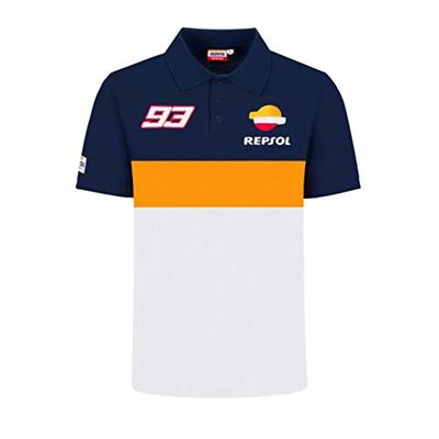 Repsol Marc Marquez 93 MotoGP Panel Blue Polo Shirt Official?2020