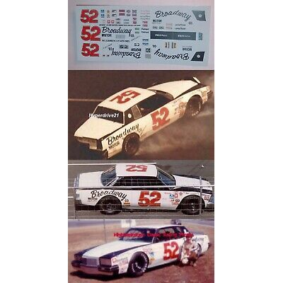 Jimmy Means #52 BROADWAY Pontiac/Chevy 1980-81  1/24th scale decals LoboGraphix