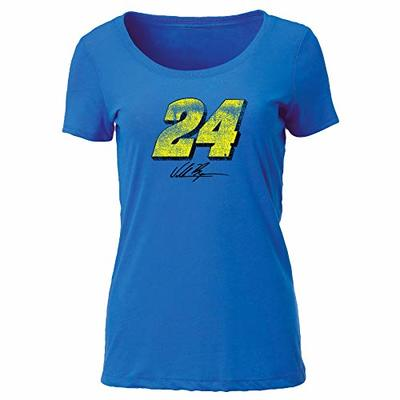 Ouray Sportswear NASCAR Women's Tri Blend Scoop-Neck Tee William Byron, Royal, X-Large