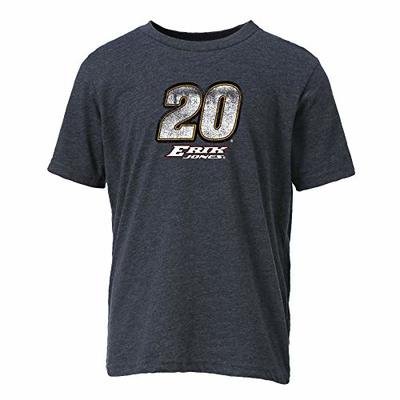 Ouray Sportswear NASCAR Youth Vintage Sheer S/S T Erik Jones, Charcoal, Small
