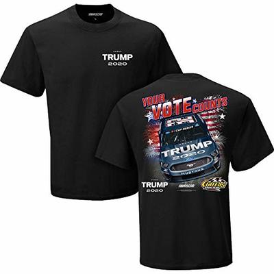 Checkered Flag Sports NASCAR Trump 2020 Your Vote Counts #32 NASCAR Racing T-Shirt (XL)