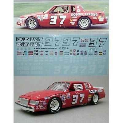 Tim Richmond #37 1981 Rogers Leasing Buick Regal 1/24th scale decals LoboGraphix