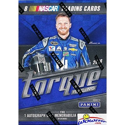 2016 Panini Torque Nascar Racing EXCLUSIVE Factory Sealed Retail Box with AUTOGRAPH or MEMORABILIA Card! Look for Cards & Autographs from Dale Earnhardt, Danica Patrick, Jimmie Johnson & Many More!