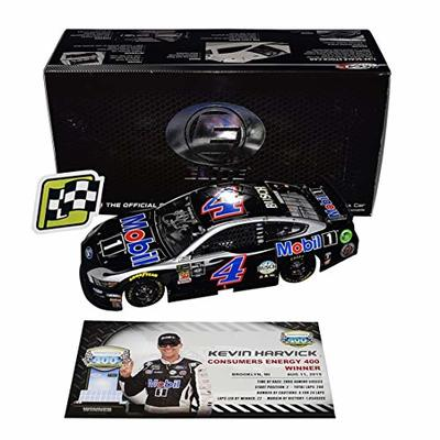 AUTOGRAPHED 2019 Kevin Harvick #4 Mobil 1 Racing MICHIGAN WIN (Raced Version) Stewart-Haas Team Monster Cup Series Signed Lionel RCCA ELITE 1/24 NASCAR Diecast Car with COA (#342 of only 362 produced)