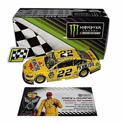 2X AUTOGRAPHED 2019 Joey Logano & Todd Gordon #22 Pennzoil Racing LAS VEGAS WIN (Raced Version) Monster Energy Cup Dual Signed Lionel 1/24 Scale NASCAR Diecast Car with COA (#114 of only 421 produced)