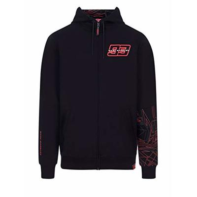 Marc Marquez Hoodie 93 Graphic Black Zip MotoGP Official 2020
