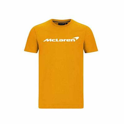 McLaren F1 Men's Essentials T-Shirt Anthracite/Orange/Blue (2XL, Orange)