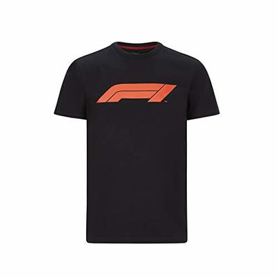 Formula 1 Tech Collection F1 Men's Large Logo T-Shirt Black/Gray/White/Navy/Red (Black, L)