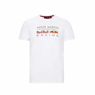 Red Bull Racing F1 Men's Large Logo T-Shirt Gray/White/Navy (XL, White)
