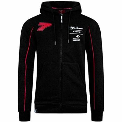 Alfa Romeo Racing F1 Men's Kimi Räikkönen Zipped Hoodie Black (3XL)