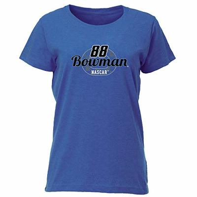 Ouray Sportswear NASCAR Women's Vintage Blend Relaxed Fit Tee Alex Bowman, Vintage Royal, Small