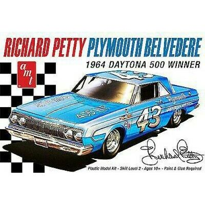 AMT Richard Petty 1964 Plymouth Belvedere – Plastic Model Car Kit – 1/25 Scale