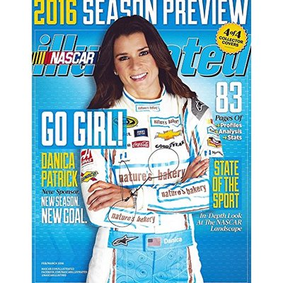 AUTOGRAPHED 2016 Danica Patrick #10 Natures Bakery Racing SPORTS ILLUSTRATED COLLECTOR COVER (Season Preview) Stewart-Haas Team Signed Collectible Picture NASCAR 9X11 Inch Glossy Photo with COA