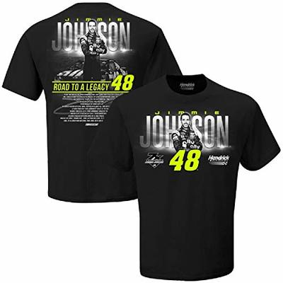 Checkered Flag Sports Men's Jimmie Johnson #48 Road to a Legacy T-Shirt, Black (XL)