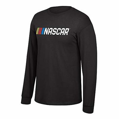 Elite Fan Shop NASCAR Men's Core Script Fan Favorite Black Long Sleeve Shirt, Medium