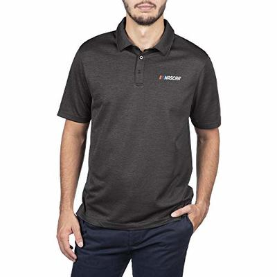 Elite Fan Shop NASCAR Men's Core Icon Fan Favorite Black Polo, Large