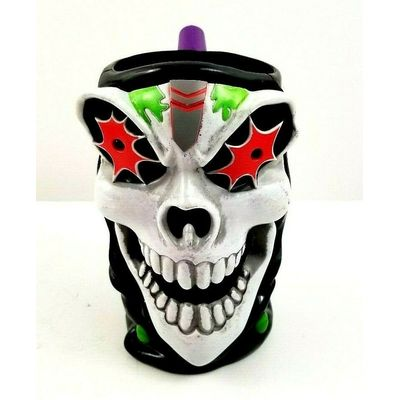 Monster Jam Grave Digger Skull Skeleton Collectible Mug Cup Truck Rally Souvenir