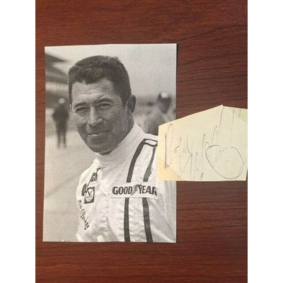ROGER McCLUSKEY SIGNED SLIP, INDYCAR AUTO RACING, INDY 500, NASCAR
