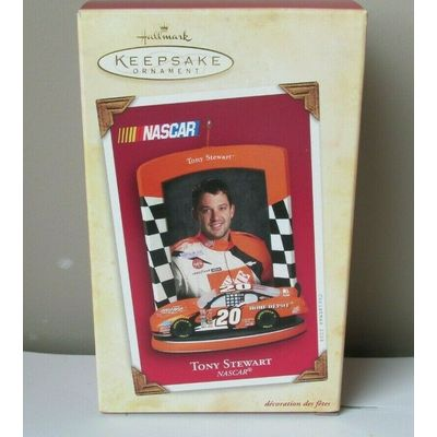 Hallmark 'Tony Stewart' NASCAR Keepsake Ornament w/Memory Card 2004 New w/Box