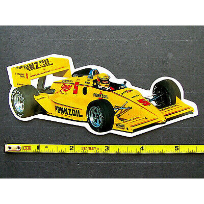 """""""PENNZOIL / MEARS"""" Vintage Racing Sticker Decal * IndyCar CART IRL USAC INDY 500"""