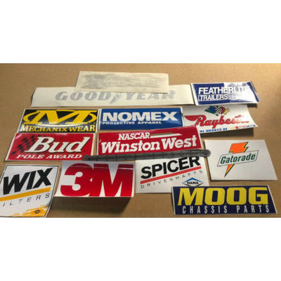 14 NASCAR Circle Track Stock Car FULL SIZE Contingency Stickers Winston WEST