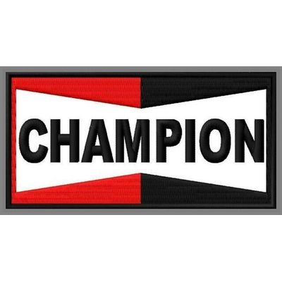 CHAMPION PATCH 5″ x 2-1/2″ MOTORCYCLES RACING SPARK PLUGS BIKE NASCAR MOTO GP #2