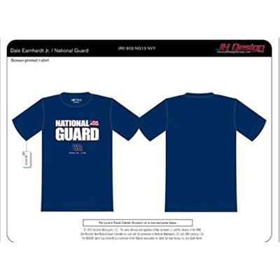 Dale Earnhardt JR #88 Nascar National Guard Navy Blue T-shirt (Large)