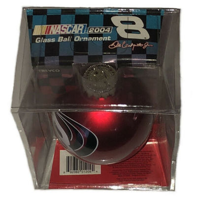 Dale Earnhardt Jr #8 NASCAR Red Round 3 Inch Christmas Ornament 2004 NIB Trevco