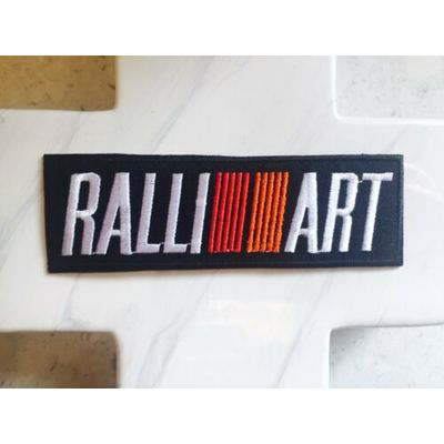Art Ralli Formula One Car Road Race Embroidered Iron On Patches Patch