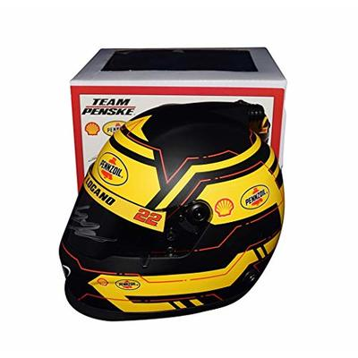AUTOGRAPHED 2019 Joey Logano #22 Shell Pennzoil Racing (Team Penske) Monster Cup Series Signed NASCAR Collectible Replica Mini Helmet with COA