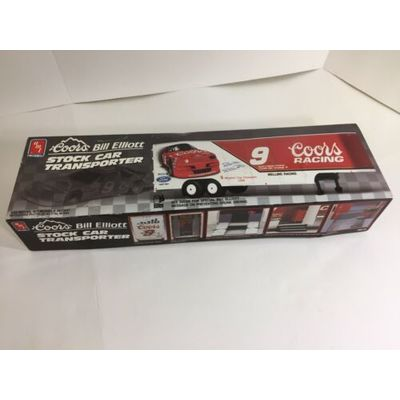 AMT Ertl Model Coors Bill Elliott 9 NASCAR Stock Ford Race Car Transporter Kit