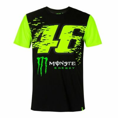 Valentino Rossi Official 2020 VR46 MotoGP 46 Mens Monza T-Shirt – Black/Yellow