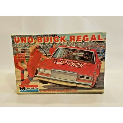 Vintage 1983 Monogram UNO Buick Regal 1:24 Model Kit NEW IN OPEN BOX AND BAG