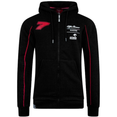 Alfa Romeo Racing F1 Men's Kimi Räikkönen Zipped Hoodie Black